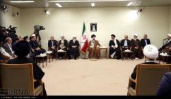 دیدار مسئولان و فعالان فرهنگی استان های آذربایجانشرقی و قم با رهبر انقلاب