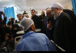 تصاویر برگزیده از سفر رئیس جمهوری به مناطق زلزله زده کرمانشاه