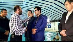 بازدید فرماندار از استخر شنای کوثر
