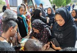 ویزیت رایگان پزشکان هلال احمر از روستائیان توابع بندرعباس