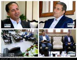 دیدار رئیس خبرگزاری جمهوری اسلامی ایران در بوشهر با استاندار بوشهر