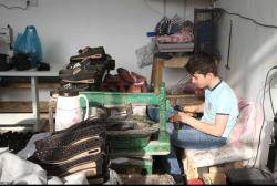 کارگاههای تولید کفش در  شهر دانسفهان قزوین