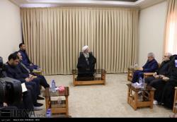 دیدار محمد باقر نوبخت رئیس سازمان برنامه و بودجه با مراجع عظام تقلید در قم
