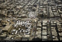 تصاویر هوایی از اسکان موقت زلزله زدگان