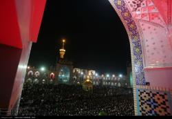 برگزاری آیین شام غریبان امام رضا (ع) در آستان ملائک پاسبان رضوی