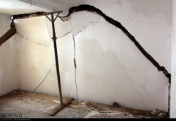 احداث اولین واحد مسکونی تخریب شده توسط سیلاب در مینودشت گلستان