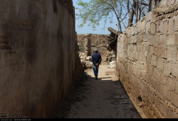خسارات سیل در محله مدرسی ( افغان آباد ) گنبدکاووس