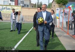 افتتاح زمین چمن مصنوعی در بیرجند