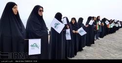 زنجیره انسانی  بوشهری ها در حمایت از سپاه